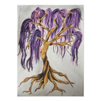 Lila Weide-Baum-Druck Fotodruck