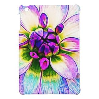 Lila weiße Blumen-Blumenblumenblatt-Blüten-Makro iPad Mini Hülle
