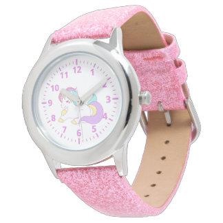 Lila weiße girly Pastelle des niedlichen Armbanduhr