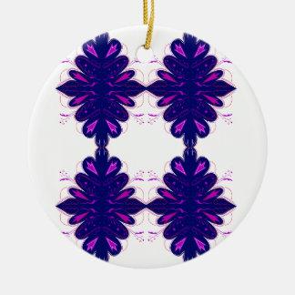 Lila weiße Verzierungen Keramik Ornament
