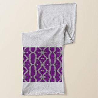 lila weißes extravagantes Muster Schal