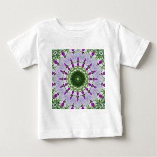 Lila Wildblume-Kaleidoskop-Kunst 3 Baby T-shirt
