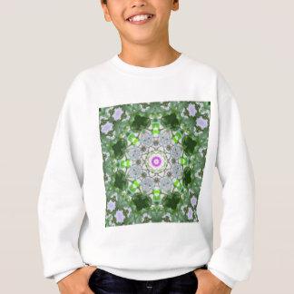 Lila Wildblume-Kaleidoskop-Kunst 8 Sweatshirt