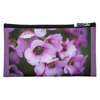 Lila Wildblumen Cosmetic Bag