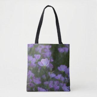lila Wildblumen Tasche