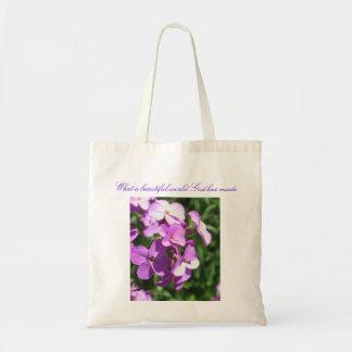 Lila Wildblumen-Was eine schöne Welt Tragetasche