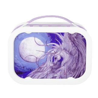 Lila Winged Unicorn mit MondLunchbox Brotdose