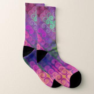 Lila Wirbel ein in den Reihen-Muster-Socken Socken