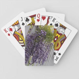 Lila Wisteria-Blumen-Spielkarten Spielkarten