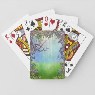 Lila Wisteria-Frühjahr-Spielkarten Spielkarten