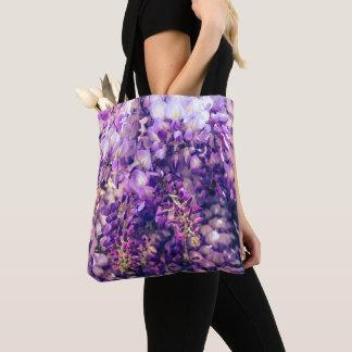 Lila Wisteria-Taschen-Tasche Tasche