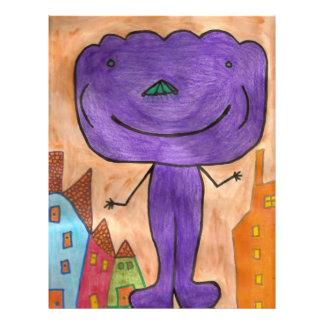 Lila Wolken-Autismus 21,6 X 27,9 Cm Flyer