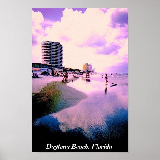 Lila Wolken in Daytona Beach Plakatdruck
