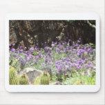 Lila Wüsten-Blumen Mousepad