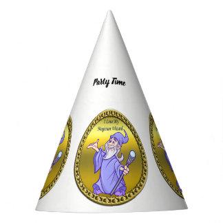 Lila Zauberer Goldmagischen Magier Sorceress Partyhütchen