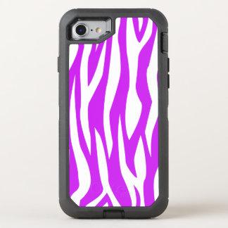 Lila Zebra-Druck OtterBox Defender iPhone 8/7 Hülle