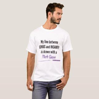 Lila Zeichenstift T-Shirt