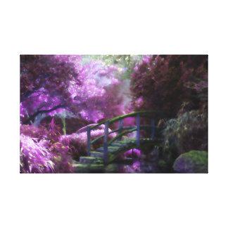 Lila Zen-Garten Leinwanddruck
