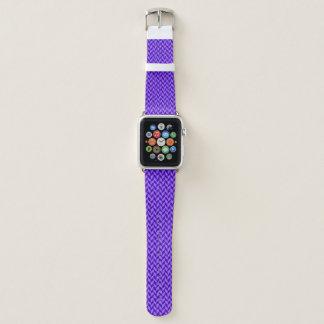 Lila Zickzack Muster Apple Watch Armband