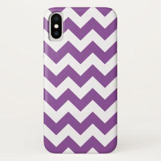 Lila Zickzack-Zickzack Muster iPhone X Hülle