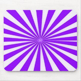 Lila Zuckerstange-Stern-Explosion Stripes Muster Mousepads