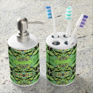 Lili-Auflagen - Bad-Set Seifenspender & Zahnbürstenhalter