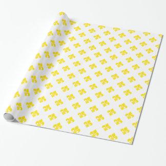 Lilie 1 Gelb Geschenkpapierrolle