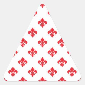 Lilie 1 Rot Dreiecks-Aufkleber