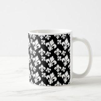 Lilie 4 Schwarzweiss Kaffee Tassen