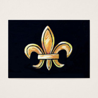 Lilie auf schwarzer Künstler-Handels-Karte Visitenkarte