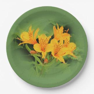 Lilie der Inkas/des gelben Alstroemeria Pappteller