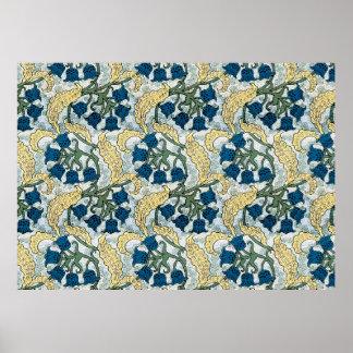 Lilie der Tal-Blau-Blumen Poster