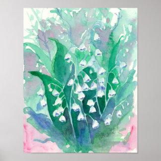 Lilie der Tal-Blumen Poster