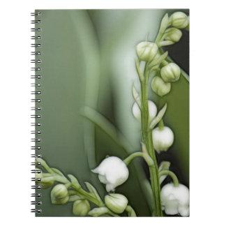 Lilie der Tal-Blumen Spiral Notizblock