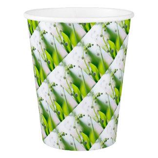 Lilie der Tal-Blumen-Wiederholung Pappbecher