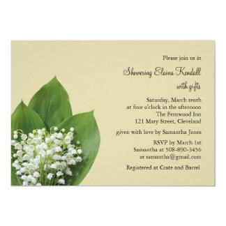 Lilie der Tal-Brautparty-Einladung 12,7 X 17,8 Cm Einladungskarte
