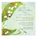 Lilie des Tal-Grün-BlumenBrautparty Personalisierte Einladungen