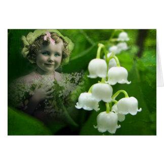 Lilie des Tal-süßen weißen Grußkarte