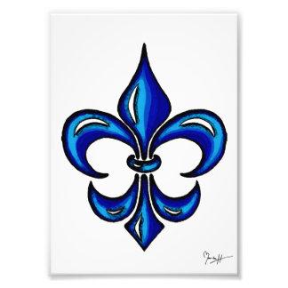 Lilie im Blau Fotodrucke