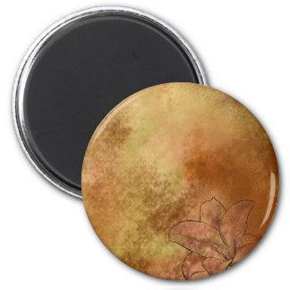Lilie in der Orange Runder Magnet 5,1 Cm