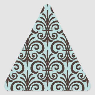 Lilie, Muster, Minze, Schwarzes, Chic, elegant, Dreiecks-Aufkleber