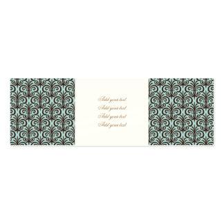 Lilie, Muster, Minze, Schwarzes, Chic, elegant, Jumbo-Visitenkarten