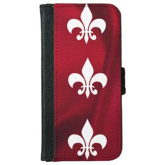 Lilie, Vintage, französische viktorianische, rote iPhone 6 Geldbeutel Hülle