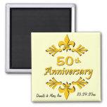 Lilien-50. Jahrestags-Gastgeschenke Kühlschrankmagnete