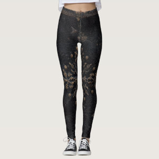 Lilien-antikes Buch Leggings