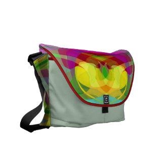 Lilien-Auflage-bunte abstrakte Kurier Taschen