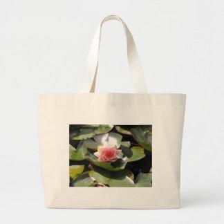 Lilien-Auflage und Blume Leinentasche