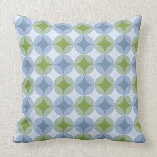 Lilien-Auflagen (Blau-u. Grün-Sterne) Kissen