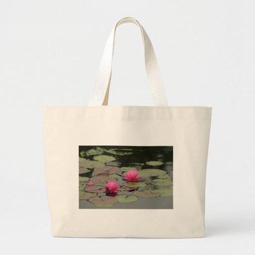 Lilien-Auflagen mit rosa Blumen Tragetaschen