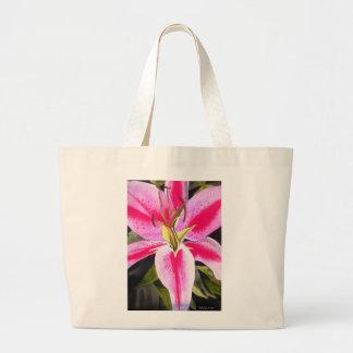 Lilien-Blume Watercolor-Pop-Kunstmalerei des Jumbo Stoffbeutel